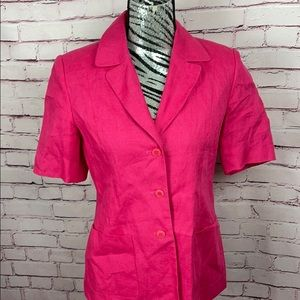 Talbots 100% Irish Linen Jacket Size 6